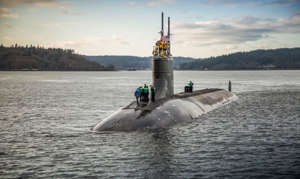 The U.S. Navy Seawolf-class fast-attack submarine USS Connecticut (SSN 22) is seen in an undated file photo provided by the U.S. Navy. / Credit: U.S. Navy/Thiep Van Nguyen II