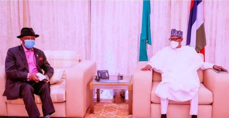 Willie Obiano met with President Buhari during which they discussed the security situation in Anambra State. Photo: Femi Adesina Source: Facebook