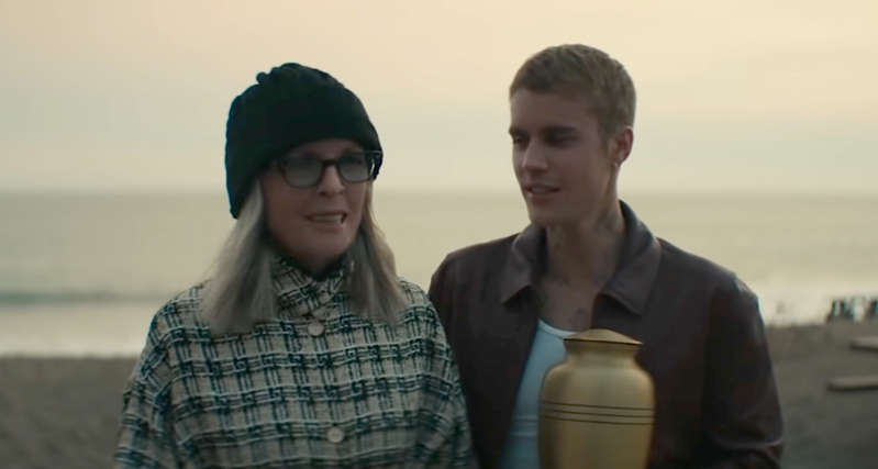 """Justin Bieber and Diane Keaton cope with grief in the touching music video for """"Ghost,"""" out now"""