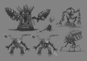 Some of the design sketches from the Metroid Dread art book. Nintendo