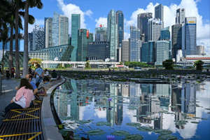A view of the skyline in Singapore on June 14. Robust demand for office space from technology companies and limited supply in the central business district in the coming years bode well for rental growth. Photo: AFP