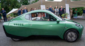 Britain's Prince Charles, Prince of Wales visits Riversimple, a company developing hydrogen-powered cars in Llandrindod Wells in Wales. AFP