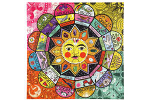 This puzzle has subtle changes in color intensity to make it challenging but not frustrating.