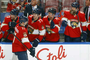 The Florida Panthers are 7-0-0 to begin the season and have become one of the favorites to win the Stanley Cup. (Joel Auerbach/Getty Images)