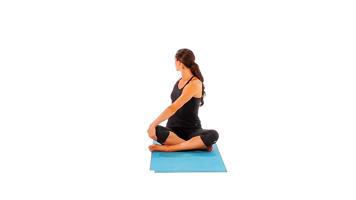 Imágenes con ángulo: Seated Easy Twist Pose video