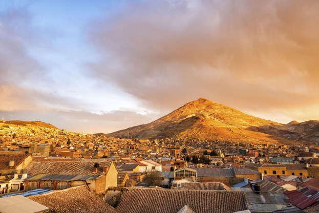 Slide 2 of 18: Cerro Rico, Potosi