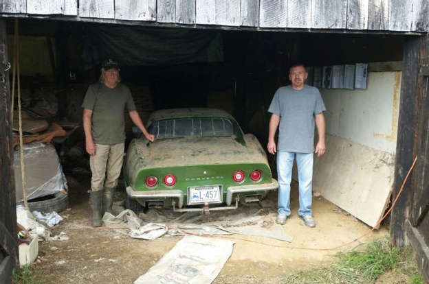 Tony Posed With The Original Owner Of This 72 In Barn Where Car
