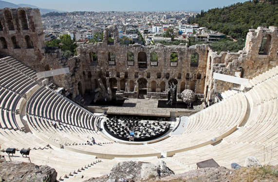 """The word """"theater"""" came from Greek"""