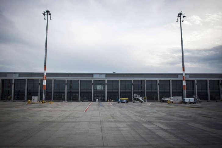 The empty terminal building of the not yet opened Berlin Brandenburg Airport in Schoenefeld on November 4, 2014.