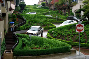 Lombard Street, the world's most crooked street, San Francisco, Calif.