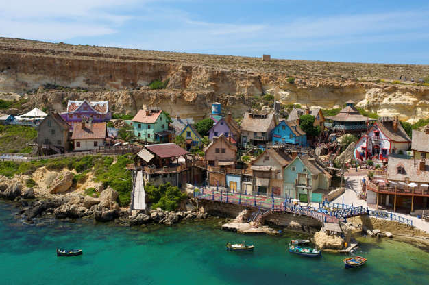 Διαφάνεια 5 από 29: Popeye Village, Malta- Popeye village (also called Sweethaven village)