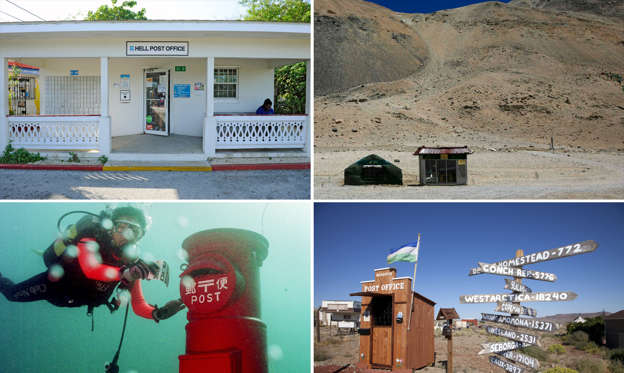 Slide 1 of 11: World Post Day: Unusual post offices around the world