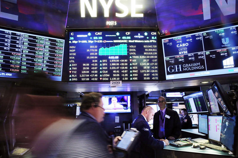 Stocks tumble again as wild trading streak continues