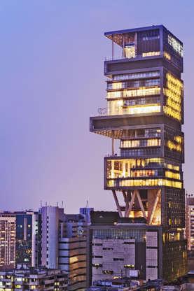 Διαφάνεια 13 από 14: 8.Antilia Building, Mumbai, India. Worth: $1 billion