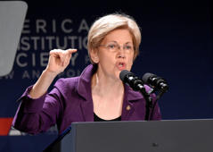 In this June 9, 2016, file photo, Sen. Elizabeth Warren, D-Mass., speaks in Washington. Warren is relishing her role as attack dog against Donald Trump.