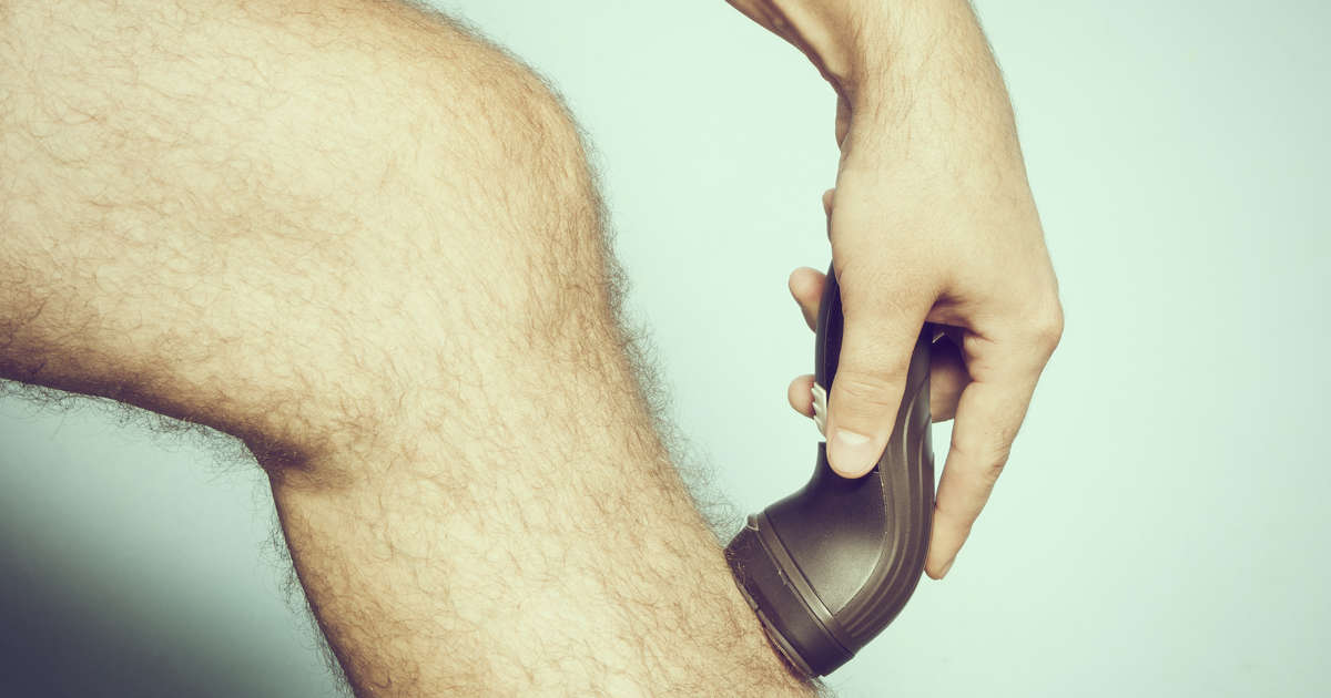 Almost half of all men are trimming or shaving their leg