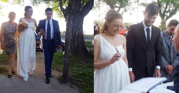 el matrimonio de janis pope, una novia preciosa con 8 meses de embarazo