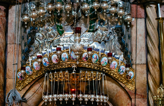 Famous Church of Holy Sepulchre, where Jesus Christ was burried, Jerusalem, Israel