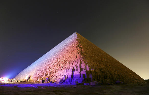 Slide 1 of 19: The Pyramid of Khufu, the largest of the pyramids of Giza, is pictured on the outskirts of Cairo, Egypt, November 9, 2015. REUTERS/Mohamed Abd El Ghany