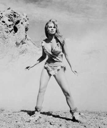 Διαφάνεια 33 από 45: (Original Caption) Raquel Welch is shown as she starred in One Million Years, B.C., which was produced by Hammer Films for a Twentieth Century Fox release.