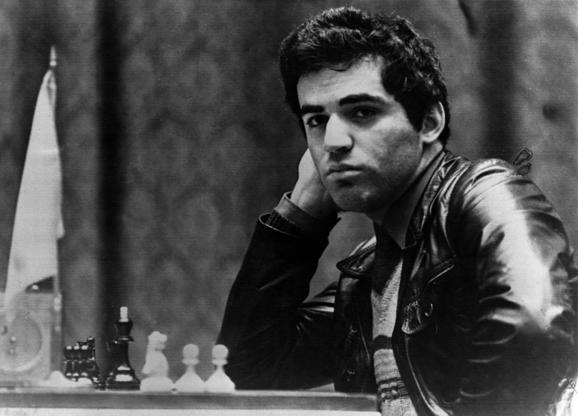 Slide 8 of 10: (GERMANY OUT) Garri Kasparow *13.04.1963- Schachspieler, UdSSR  - Portrait  - 1985