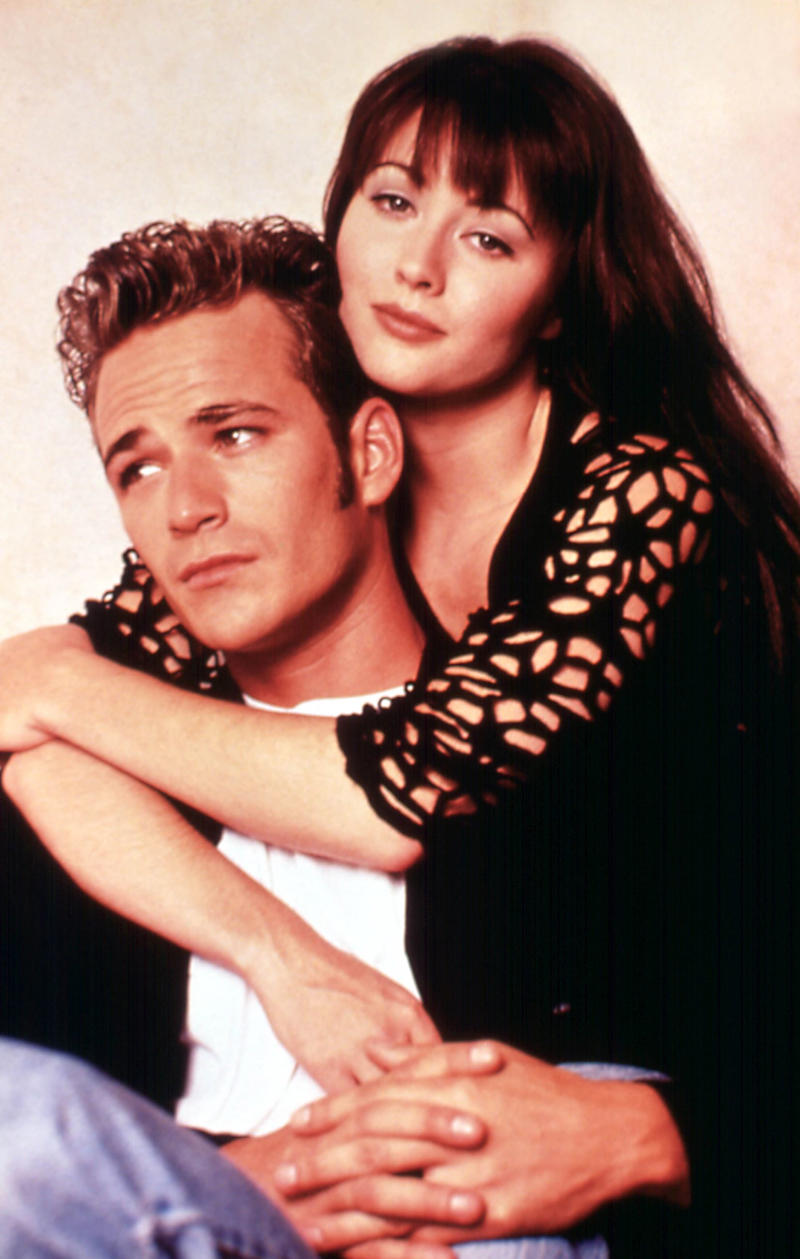 Luke Perry and Shannon Doherty
