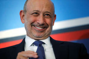Goldman Sachs Group, Inc. Chairman and CEO Blankfein smiles as he participates in a panel discussion during the White House Summit on Working Families in Washington: Lloyd Blankfein, the former CEO of Goldman Sachs