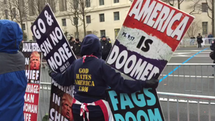 Westboro Baptist Church protest Trump inauguration