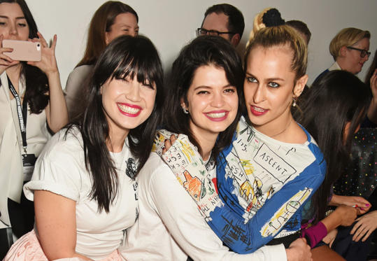 Slide 45 of 57: LONDON, ENGLAND - FEBRUARY 17:  (L to R) Daisy Lowe, Pixie Geldof and Alice Dellal attend the Ashley Williams show during the London Fashion Week February 2017 collections on February 17, 2017 in London, England.  (Photo by David M. Benett/Dave Benett/Ge