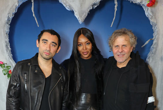 Slide 17 of 57: LONDON, ENGLAND - FEBRUARY 19:  Nicola Formichetti, Naomi Campbell and Renzo Rosso attend Diesel Make Love Not Walls Global Event on February 19, 2017 in London, England.  (Photo by David M. Benett/Dave Benett/ Getty Images for DIESEL)