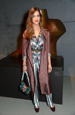 Slide 3 of 57: Burberry show, Autumn Winter 2017, London Fashion Week, UK - 20 Feb 2017 Sara Carbonero