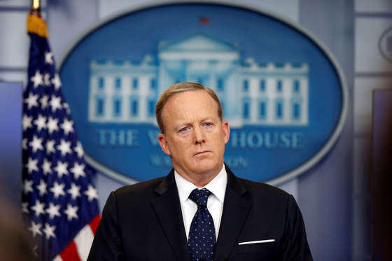 Slide 1 of 13: White House press secretary Sean Spicer listens to a reporter's question during a briefing at the White House, Tuesday, June 20, 2017 in Washington. (AP Photo/Alex Brandon)
