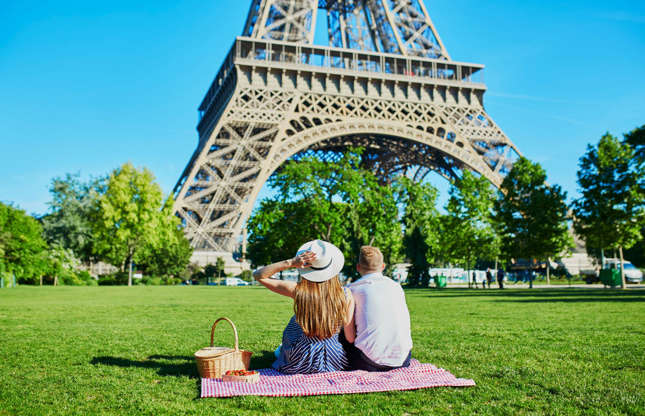 Διαφάνεια 16 από 37: Think Paris and the Eiffel Tower will likely come to mind. Most of us have dreamed of a romantic evening at the foot of this iconic structure in the City of Love. However, don't pack your picnic basket yet…