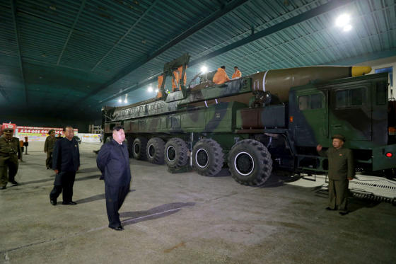 Slide 89 of 89: North Korean leader Kim Jong Un inspects the intercontinental ballistic missile Hwasong-14 in this undated photo released by North Korea's Korean Central News Agency (KCNA) in Pyongyang July 5, 2017.