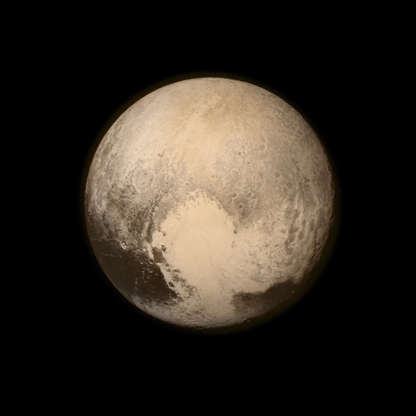 Slide 31 of 86: IN SPACE - JULY 14: In this handout provided by the National Aeronautics and Space Administration (NASA), Pluto nearly fills the frame in this image from the Long Range Reconnaissance Imager (LORRI) aboard NASA's New Horizons spacecraft, taken on July 13, 2015, when the spacecraft was 476,000 miles (768,000 kilometers) from the surface. This is the last and most detailed image sent to Earth before the spacecraft's closest approach to Pluto. New Horizons spacecraft is nearing its July 14 fly-by when it will close to a distance of about 7,800 miles (12,500 kilometers). The 1,050-pound piano sized probe, which was launched January 19, 2006 aboard an Atlas V rocket from Cape Canaveral, Florida, is traveling 30,800 mph as it approaches. (Photo by NASA/APL/SwRI via Getty Images)