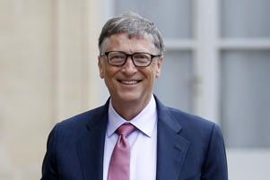 Bill Gates, the co-Founder of the Microsoft company and co-Founder of the Bill and Melinda Gates Foundation makes a statement after his meeting with French President Francois Hollande at the Elysee Presidential Palace on June 27, 2016 in Paris, France. Bill Gates mentioned in a short statement after his meeting with French President Francois Hollande that France was a great asset in the fight against AIDS.
