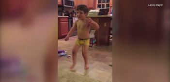 Boy with cerebral palsy takes first steps