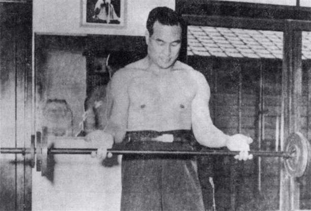 Slide 19 of 28: Mas OyamaIn Japan he's better known as 'Godhand'. This nickname was given to him after spending a big part of his career as a Karate master training with bulls. He built up such a vast amount of strength from this 'hobby' that there are records of him killing a bull with a single move.