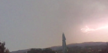 Colossal lightning strike illuminates sky over Novato