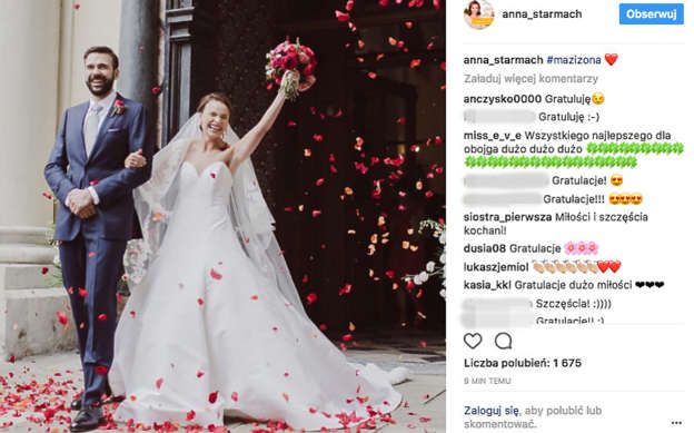 85874eaac8 Mamy zdjęcie ze ślubu Anny Starmach! Zobacz jej ślubną kreację!