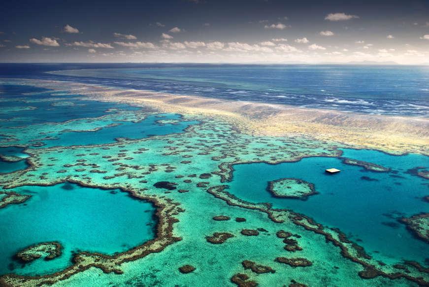 الشريحة 11 من 17: Australia, Whitsunday Islands, Great Barrier reef.
