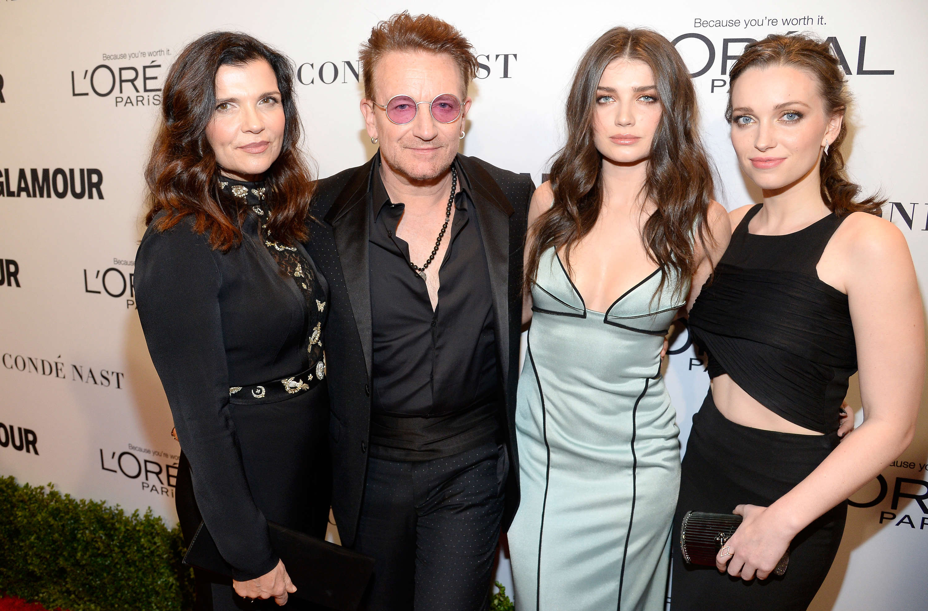 Slide 3 of 18: Alison Hewson, honoree Bono, actress Eve Hewson, and Jordan Hewson attend Glamour Women Of The Year 2016 at NeueHouse Hollywood on November 14, 2016 in Los Angeles, California