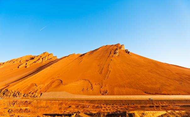Diapositive 26 sur 28: Em 2008, um satélite da NASA registrou a temperatura de 66,7º C no local, a montanha formada de arenito é considerada o lugar mais quente da China.