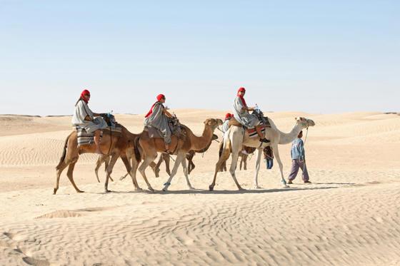 Diapositive 18 sur 28: A cidade localizada no sul do deserto da Tunísia, registra diariamente temperaturas médias que chegam a 55ºC na região.