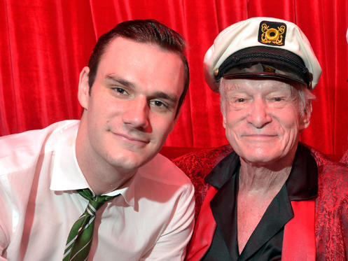 Slide 28 dari 28: Hugh Hefner poses at Playboy's 60th Anniversary special event on January 16, 2014 in Los Angeles, California.