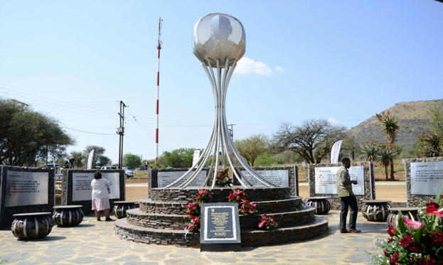 Slide 2 of 29: The unveiling of a monument dedicated to President Jacob Zuma at the Groot Marico site on October 05, 2017 in North West, South Africa. Zuma recalled the day in 1963 when he, along with 51 others were arrested by the apartheid security branch police.