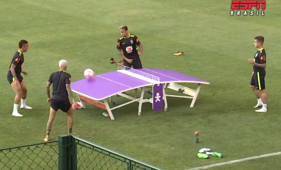 Watch Neymar and Coutinho prep with table tennis football