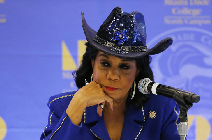 "In a tweet Saturday morning, President Trump again called Rep. Frederica Wilson ""wacky."""
