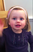 Baby learns how to speak, but can't quite get it right!