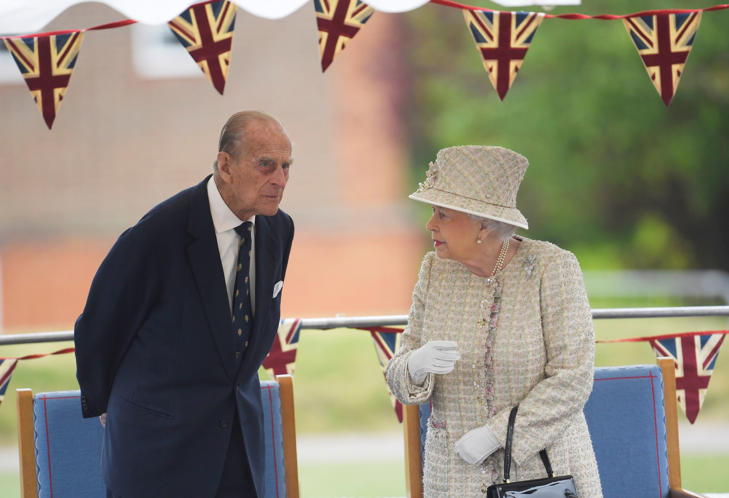 Britain's Prince Philip and Queen Elizabeth. REUTERS/Toby Melville